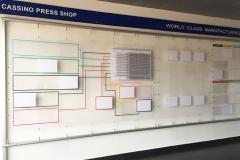 Cartelloni con tasche in plexiglass a parete