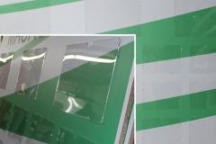 Cartelloni con tasche in plexiglass