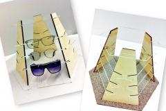 Realizzazione espositori per occhiali su misura