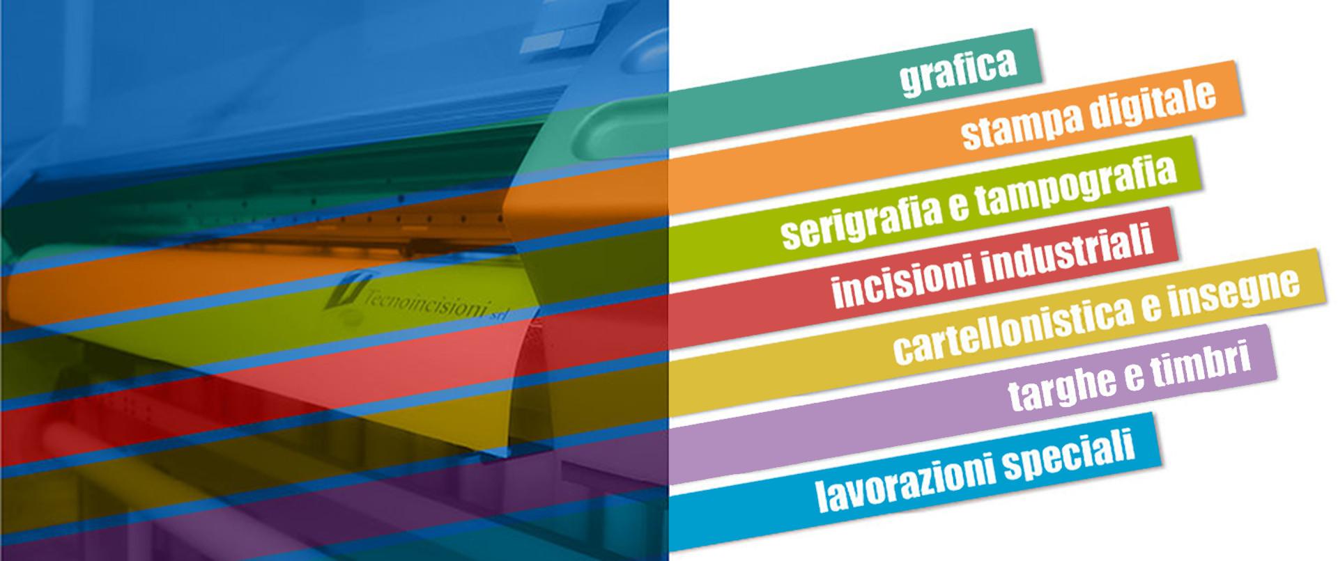 Tecnoincisioni: Riepilogo servizi di Grafica Stampa Serigrafia Incisioni Cartellonistica Cassino Frosinone